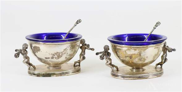 Belfiore Sterling Silver Figural Salt Cellars