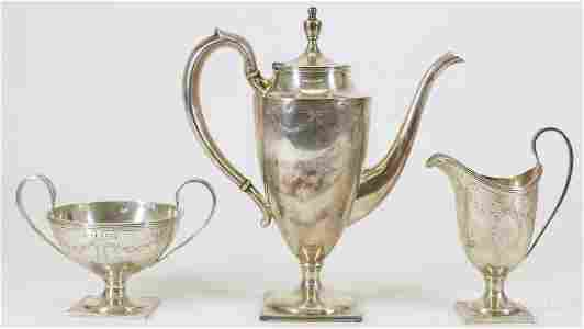 Lebkuecher Sterling Silver Coffee Pot with Extras