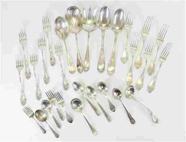 Assorted Sterling Silver Flatware with Multiples