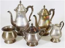 Durham Sterling Silver Tea Service
