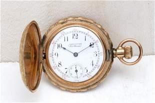 American Waltham 14K Rose Gold Pocket Watch