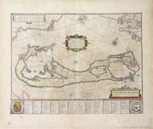 17th c. map of Bermuda : Henricus Hondius & Jan Jansson
