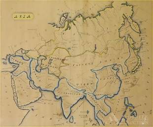 Early 19th Century Manuscript Map of Asia