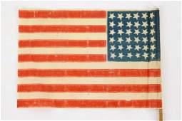 Historic 36-Star United States Flag