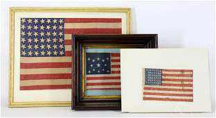 Grouping of Historic United States Flags