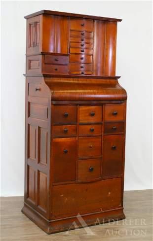 Mahogany Dental Cabinet