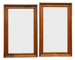 Complementing Pair of Tiger Maple Mirrors