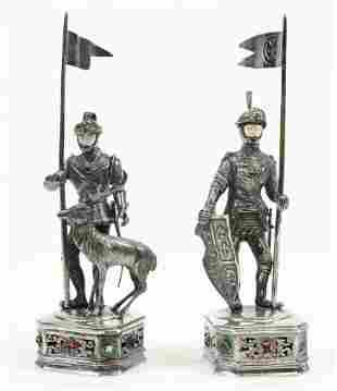 German Sterling Silver Knights