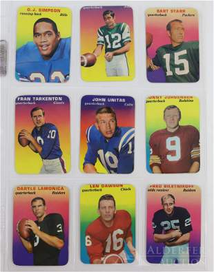 1970 Topps Super Glossy Football Cards