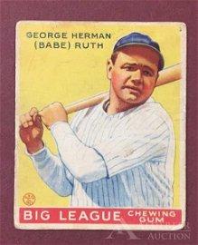 Hall of Fame George Herman (Babe) Ruth Baseball Card