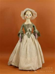 MID-LATE 1700's WOOD DOLL.