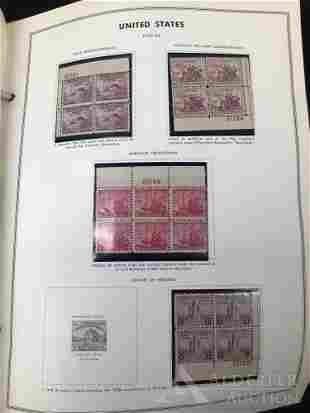 US Stamps - 20's - 70's Plate Blocks