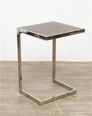 Mid-Century Modern Geometric Side Table