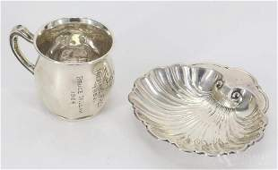 Sterling Silver Cup & Tray