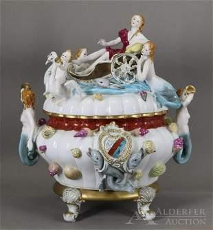 Meissen Porcelain Mermaid Tureen