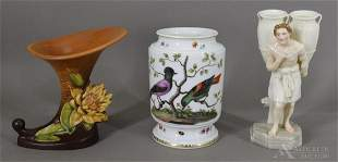 Roseville Pottery, Meissen & Other Porcelain