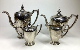 "Fisher ""Revere"" Sterling Silver Tea Service"