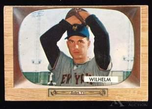 1955 Bowman Hoyt Wilhelm baseball card