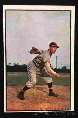 1953 Bowman Color Bob Feller baseball card