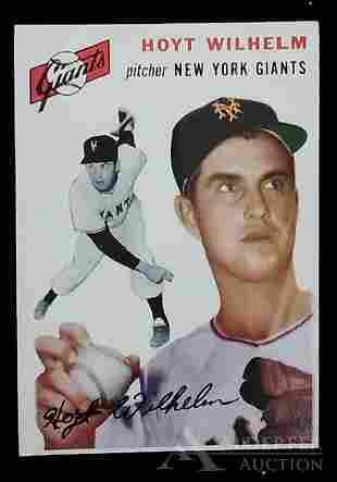 1954 Topps Hoyt Wilhelm baseball card