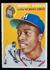 1954 Topps Henry Aaron rookie baseball card