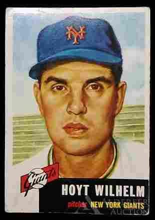 1953 Topps Hoyt Wilhelm baseball card