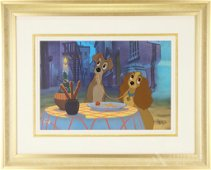 Walt Disney Limited Edition Cel, Lady and the Tramp