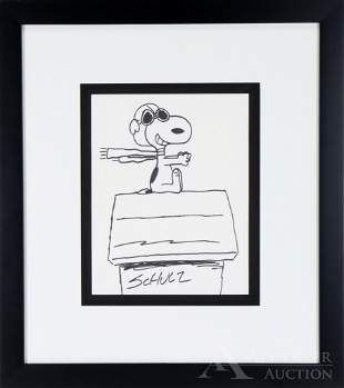 Peanuts Original Maker Drawing of Snoopy
