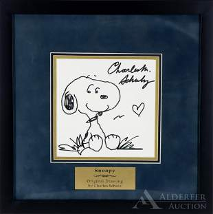 Original Pen & Ink Drawing of Snoopy