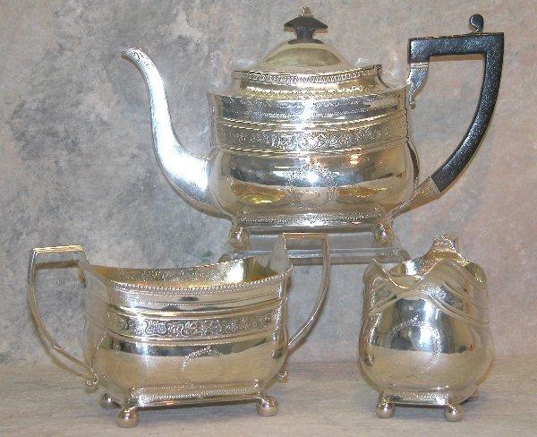 470: English Sterling Silver Tea Service.