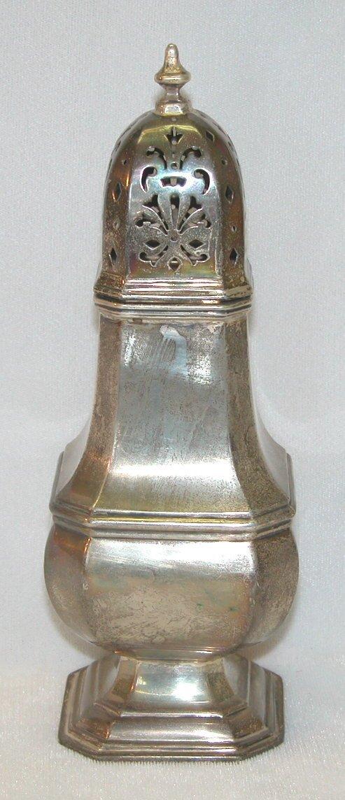 475: Sterling Silver Sugar Castor.