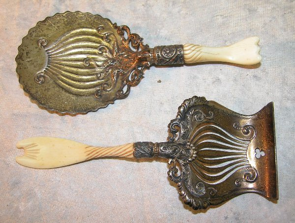 478: Sterling Silver and Ivory Serving Pieces