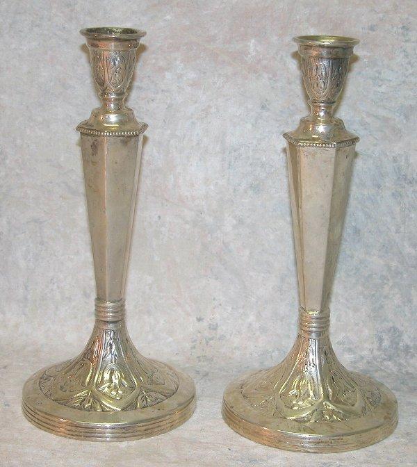 480: Sterling Silver Candlesticks.
