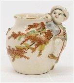 Yabu Meizan (Japanese 1853-1934) Satsuma Miniature