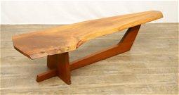 George Nakashima Black Walnut Slab Coffee Table