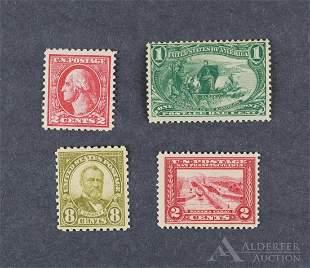 US Stamp #285, #398, #528, #589