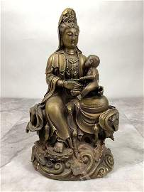 Bronze Guanyin With Child