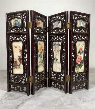 Painted Stone Table Screen