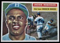 1956 Topps Jackie Robinson Baseball Card