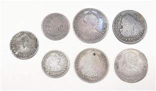 SPANISH SILVER COINS