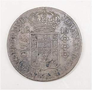 BRAZIL/SPANISH SILVER COIN