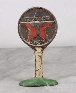 Cast Iron Texaco Trademark Doorstop