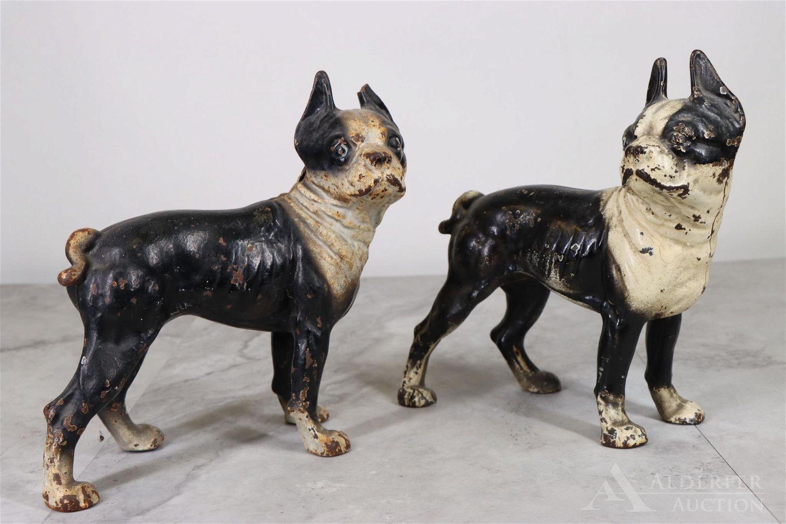 Cast Iron Dog Doorstops