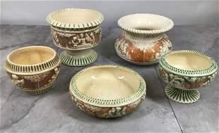 Roseville Pottery Donatello Vases