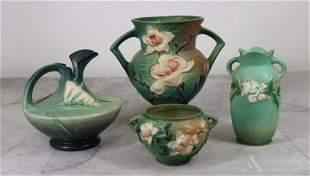 Roseville Pottery Vases & Pitcher
