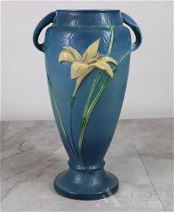 Roseville Pottery Zephyr Lily Handled Vase