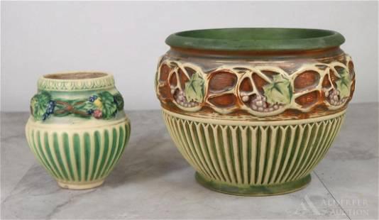 Roseville Pottery Corinthian Jardiniere & Vase