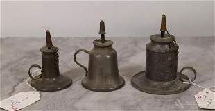 Pewter Camphene Oil Lamps
