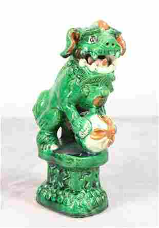 Sancai Foo Dog Pottery Figure