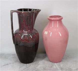 Roseville Pottery Vase & Pitcher